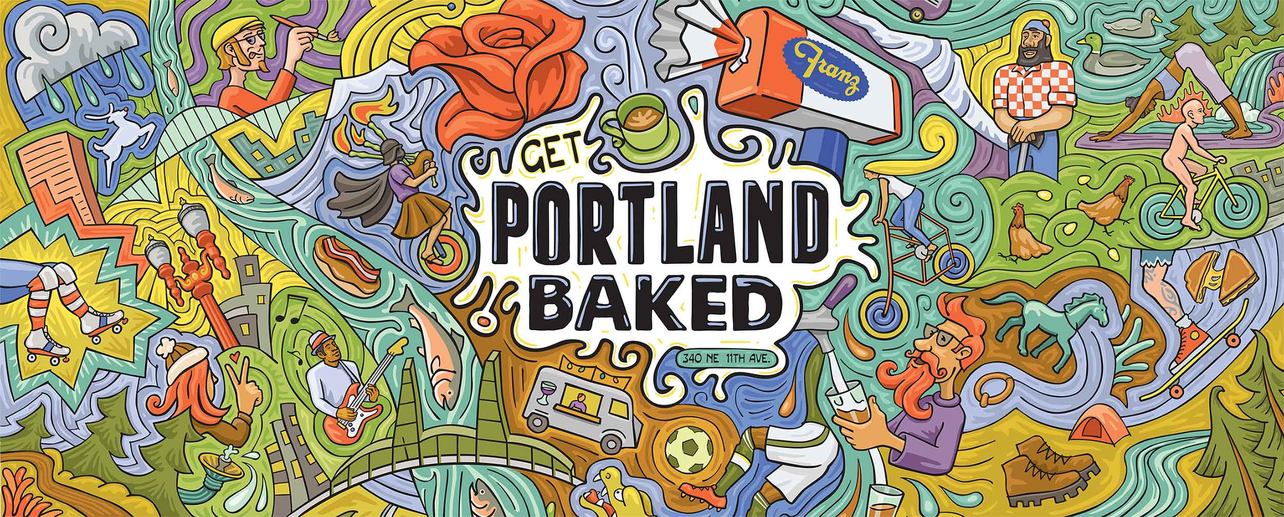Franz Get Portland Baked Illustration